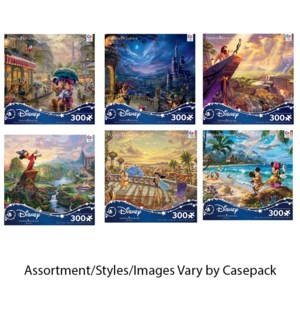 300PC THOMAS KINKADE DISNEY PRINCESS OVERSIZE ASST (6) BL