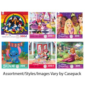 200PC DISNEY FRIENDS ASST (6) BL