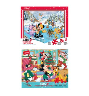 400PC DISNEY TOGETHER CHRISTMAS (6) BL *HOLIDAY