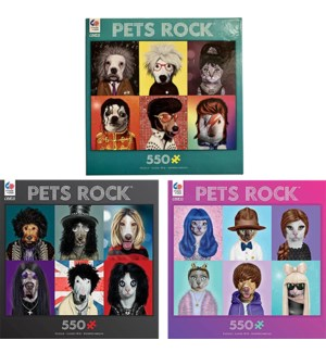 PETS ROCK 550PC PUZZLE (6) *SD*