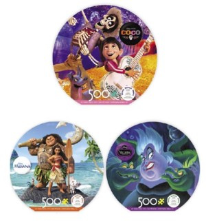 DISNEY ROUND ASSORTMENT 500 PIECE(6)*F19*