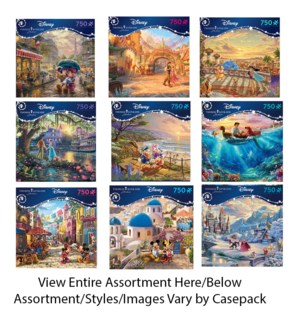 750PC THOMAS KINKADE DISNEY DREAMS ASST (6) BL