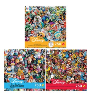 750PC DISNEY ASST (6) BL