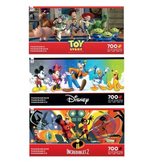 700PC DISNEY PANORAMIC ASST (6) BL