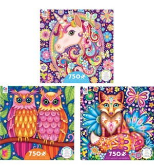 750PC GROOVY ANIMAL ASST (6) BL