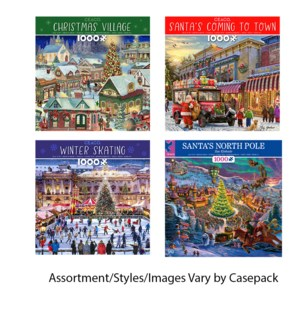 CLASSIC CHRISTMAS HOLIDAY 1000PC (6) *HOLIDAY*