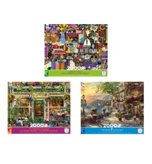 2000 PC DELUXE PUZZLE ASSORTMENT (6)