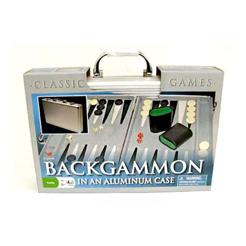 BACKGAMMON ALUMINUM CASE (6) 6147 *SD*