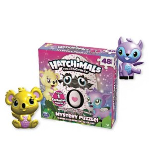 HATCHIMALS COLLEGGTIBLES MYSTERY PUZZ (4) *SD*