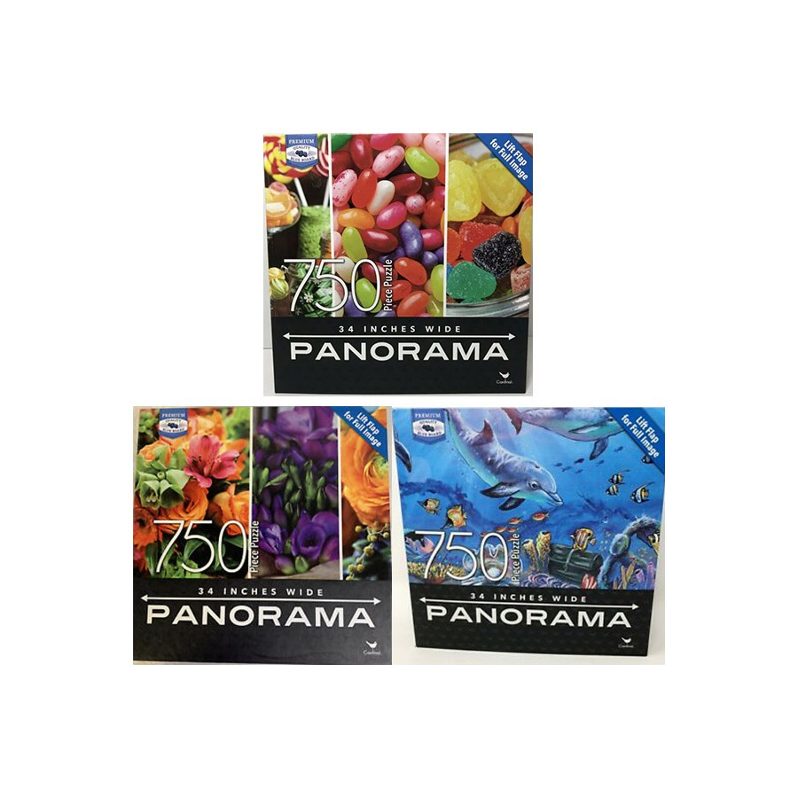 750PC PANORAMIC PREMIUM ASST PUZZLE (3) *SD*