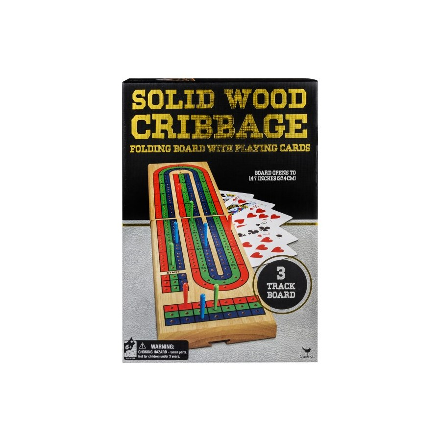 FOLDING CRIBBAGE GAME BLK/GLD WRAP (4) BL