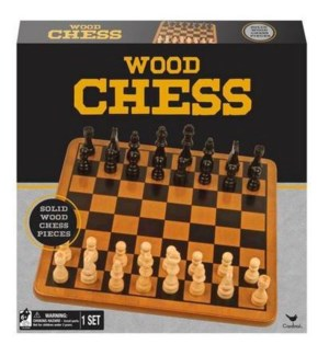 CLASSIC - DLX WOOD CHESS & CHECKERS FLD SET (4)