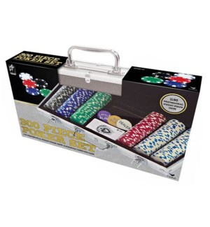 300 PCS POKER SET 11.5GR IN ALUMINUM CASE (2) BL