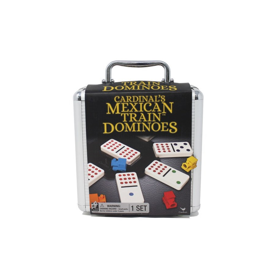 MEXICAN TRAIN COLOUR DOMINOS ALUM CASE (3) BL