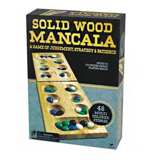 FOLDING MANCALA GAME BLK/GLD BOX (6) BL
