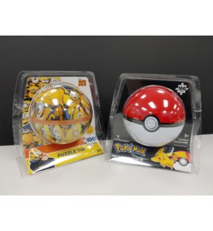 POKEMON & MINION PUZZLE IN A SPHERE ASST (2) *SD*
