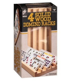 SOLID WOOD DOMINO RACKS (2)