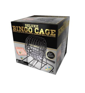 DELUXE METAL BINGO CAGE (4) BL *SD*  (NEW 6033152)