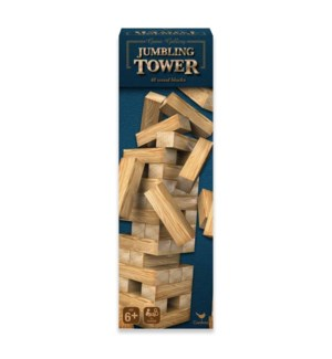 CLASSIC - 48 PC WOOD JUMBLING TOWER IN BOX (12) BL