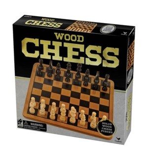 WOOD CHESS SET BL (12)