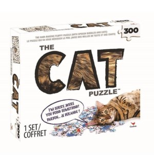THE CAT PUZZLE W/ FUR (3) BL *SD*