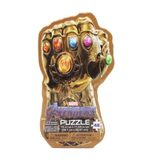 PUZZLE - 48PC INFINITY GAUNTLET TIN LENTICULAR (3) BL
