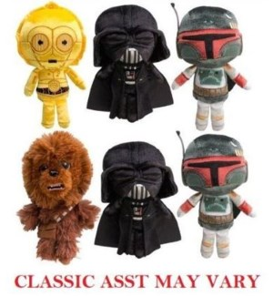 Asst: Galactic Plushies-Star Wars Classic S1 (6) PDQ *D*