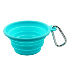 SILICONE TRVL BOWL XSML(CAP:7OZ/200ML)-TEAL(3)BL