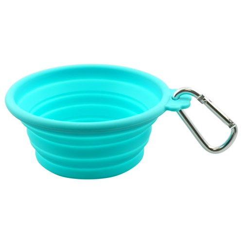 SILICONE TRVL BOWL - SML 13OZ/370ML TEAL (3) BL