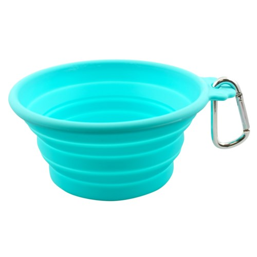 SILICONE TRVL BOWL-MED(CAP:26.5OZ/750ML)-TEAL(3)BL
