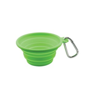 SILICONE TRVL BOWL SML(CAP:13OZ/370ML)LIME GRN (3)BL