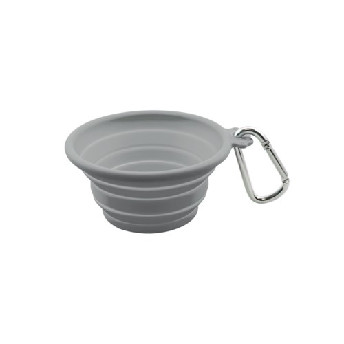 SILICONE TRVL BOWL - MED 26.5OZ/750ML GREY (3) BL