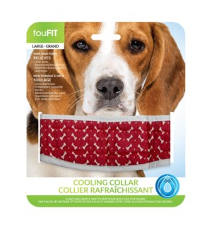 "COOLING COLLAR - RED - LRG(20.5""L X 3.25""W)  (3)BL"