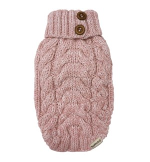 LUXE CABLE KNIT SWEATER - BABY PINK - 2X-LRG(1)BL