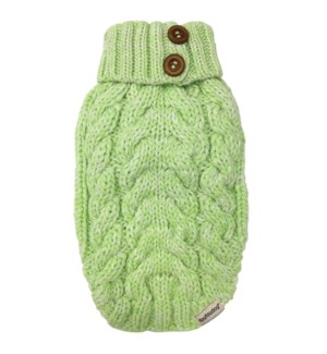 LUXE CABLE KNIT SWEATER - LIME GREEN - SML(1)BL