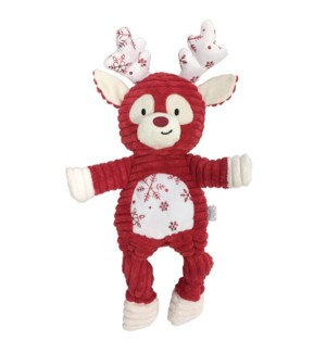 "METALLIC FROST KNOTTED TOY - SMALL (10"")-REINDEER(3)BL"