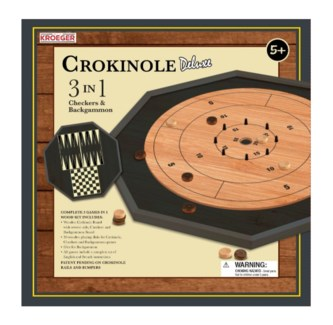 CROKINOLE 3 IN 1 DLX BL (4) *ETA APRIL/JUNE*