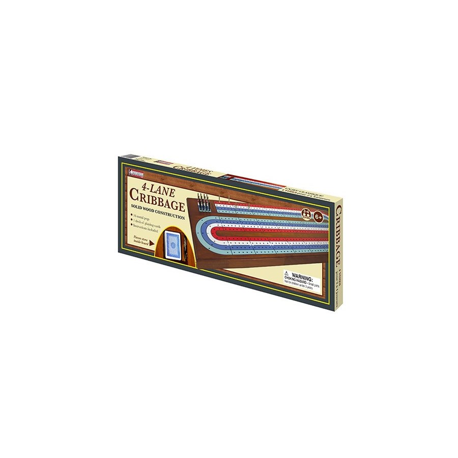 LARGE 4 TRACK CRIBBAGE BOARD BL (4)