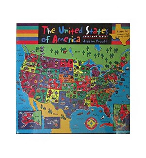 FACES & PLACES USA MAP 100 PCS *D*