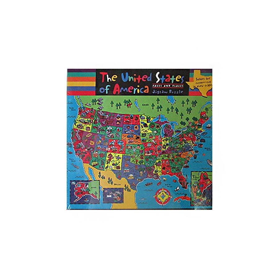 100PC FACES & PLACES USA MAP