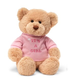 "BEAR - T-SHIRT BEAR ITS A GIRL 12"" (6) BL"