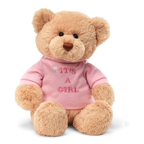"T-SHIRT BEAR - ITS A GIRL 12"" (6) BL"