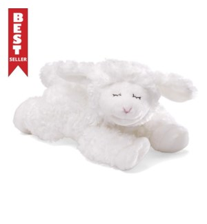 "BABY - WINKY LAMB RATTLE WHITE 7"" (4) BL"
