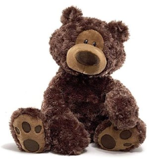 "BEAR - PHILBIN CHOCOLATE 18"" (2) BL"