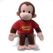"CURIOUS GEORGE - RED SHIRT 16"" (2) BL *SD*"