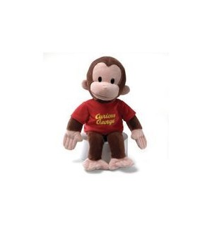 "CURIOUS GEORGE - RED SHIRT 16"" (2) BL"