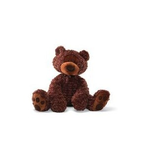 "BEAR - PHILBIN CHOCOLATE JUMBO 29"" (1) BL"