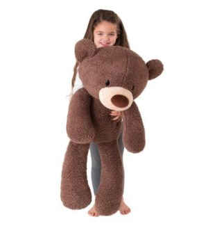 "BEAR - FUZZY CHOCOLATE  JUMBO 34"" (2) BL"