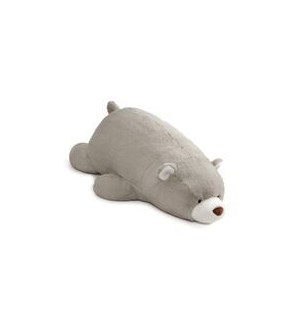 "BEAR - SNUFFLES LAYING DOWN GRAY 27"" (2) BL"