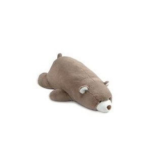 "BEAR - SNUFFLES LAYING DOWN TAUPE 27"" (2) BL"